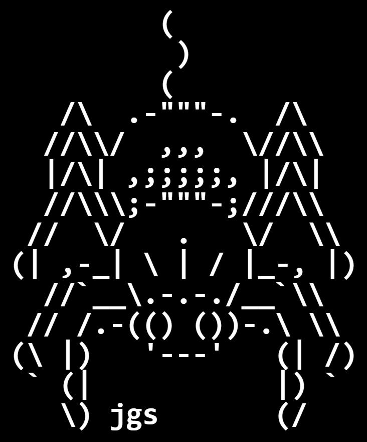 In this example, we convert Unicode art to a spider picture. We don't set the dimensions of the canvas, so the tool automatically adjusts it to fit the Unicode drawing. The spider is drawn with white characters on a black background, using a Monospace font of 60 pixels. We align the spider to the top left corner and make all symbols bold.
